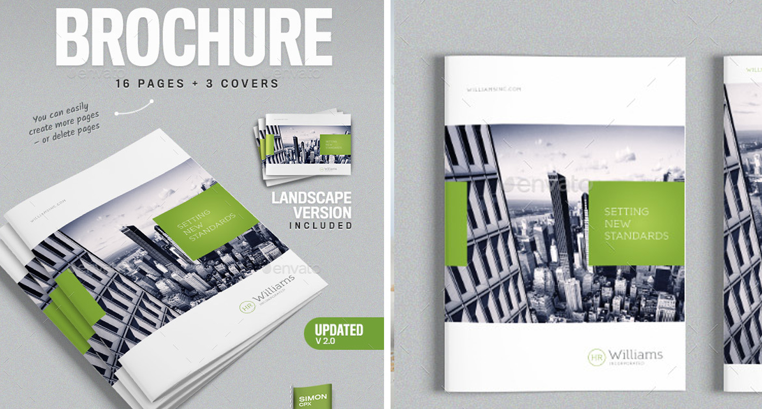 corporate business brochure 16 pages a4 letter graphic design
